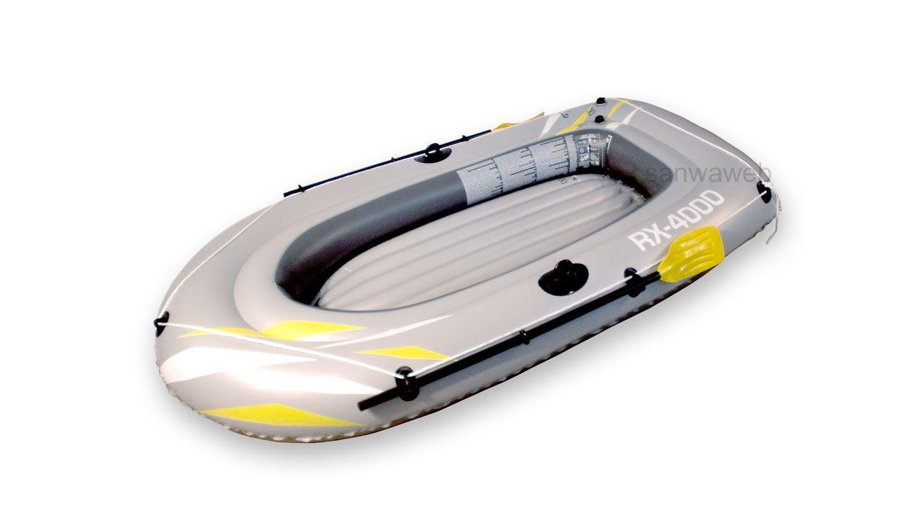 インフレータブル ゴムボート 2シートとオール格納