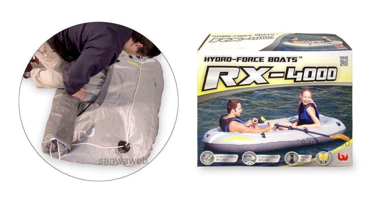 RX-4000 Raft Set インフレータブル ゴムボート 2シート のケース