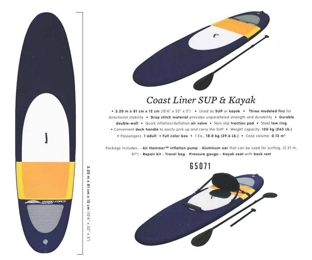 Coast Liner SUP & Kakak / HYDRO-FORCE / Bestway 65071