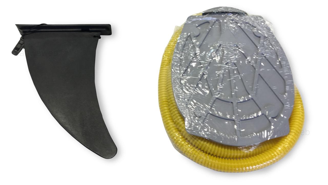 釣り用インフレータブル・フロート(1人チェアー) DJU 170 の付属部品