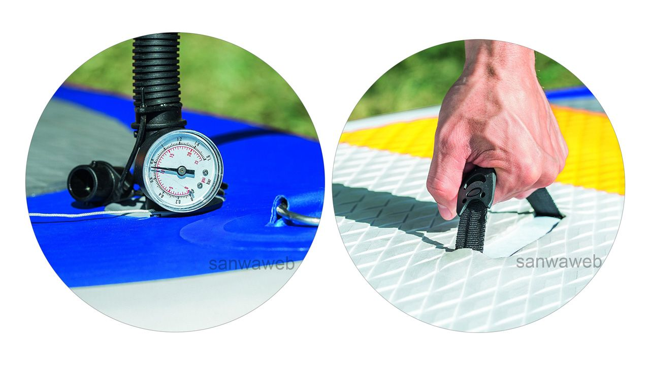HYDRO FORCE / HIGHWAVE SUP / Bestway 65065 圧力計と移動に便利なデッキ取手