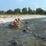 discesa del fiume Brenta in un Voyager 500