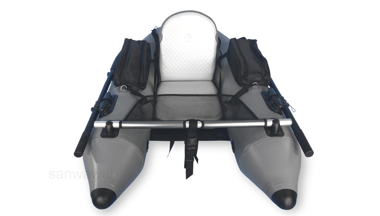 釣り用インフレータブル・フロート(1人チェアー) DJU 170 の前部