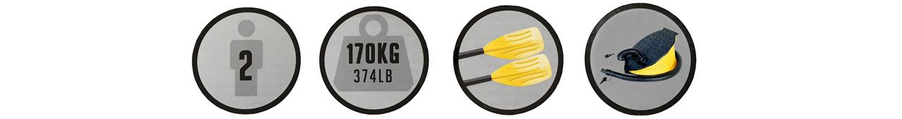HYDRO-FORCE Raft Set / Bestway 61083のポイント